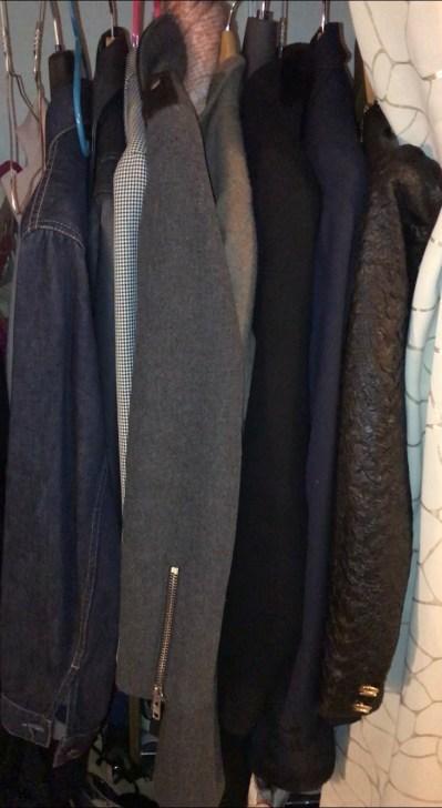 Les manteaux avant tri
