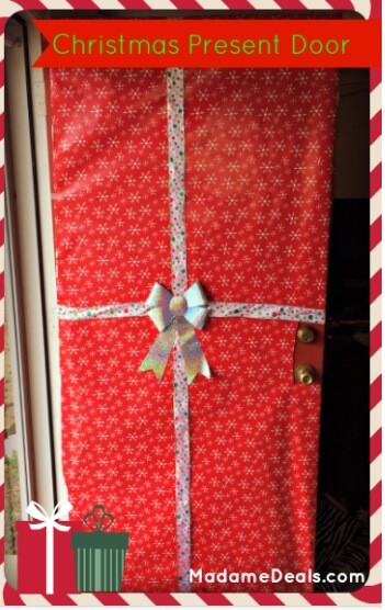 How to wrap your door like a Christmas Present