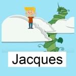 Vocabulary Set image for JACQUES, accompanies the JACQUES PASSÉ COMPOSÉ ÊTRE VERB song video