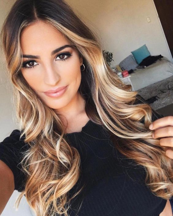beliebteste neueste ombre haarfarben haar stil trends 2018 2019 madame friisuren madame frisuren. Black Bedroom Furniture Sets. Home Design Ideas