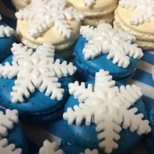 Snowflake Embellished Macarons