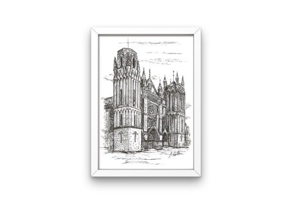 Poitiers Cathedral print