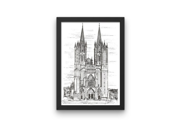 Coutances Cathedral print