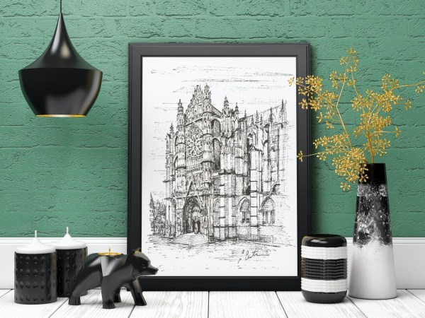 Beauvais Cathedral print