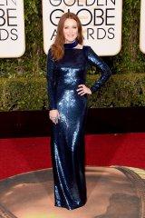 Julianne Moore: vestido de Tom Ford y joyas de Chopard