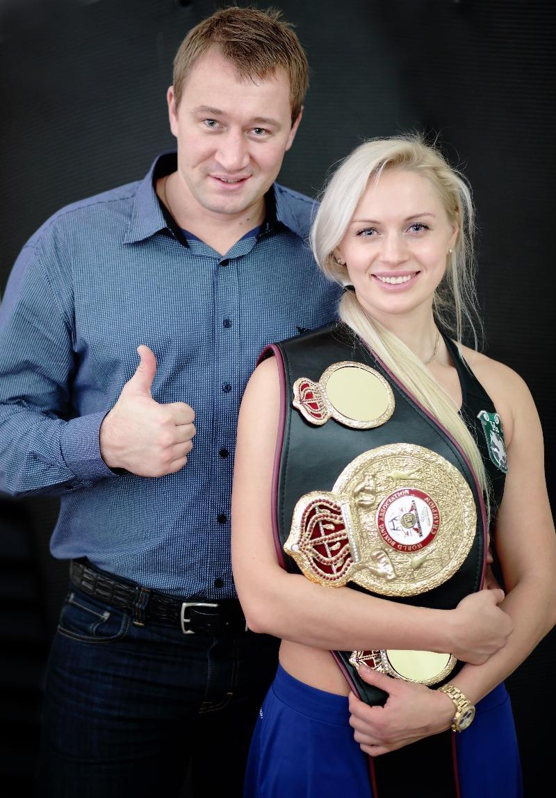 Svetlana Koulakova boxeuse russe avec son mari