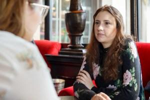 Chiara Condi Led By Her Paris talking to Olga Fromentin