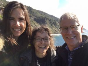 Kristy Arbon with Kristin Neff and Chris Germer at Esalen