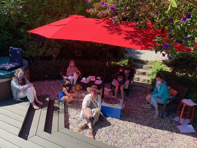 Karen Benke Creative Writing Classes in the Garden during COVID pandemics