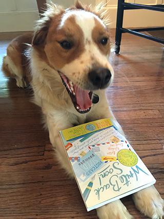 Dog with Write Back Soon book by Karen Benke