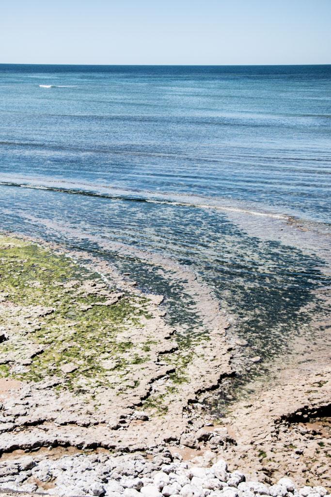 L'océan Atlantique sur l'île d'Oléron côté Les Huttes