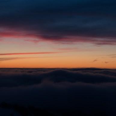 le coucher de soleil au sommet du Hohneck dans les Vosges