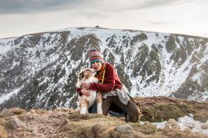 Audrey et Tim en randonnée au Hohneck dans les massif des vosges avec madame voyage