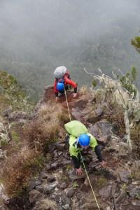 alpinisme arête des 3 salazes sur l'île de la Réunion avec Adventure Réunion activités sportives blog madame voyage