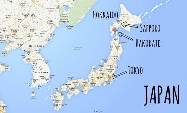 Lokasi si Hakodate
