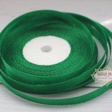 Лента атласная цвет зеленый (бабина)