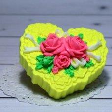 Мыло ручной работы Кружевное сердце