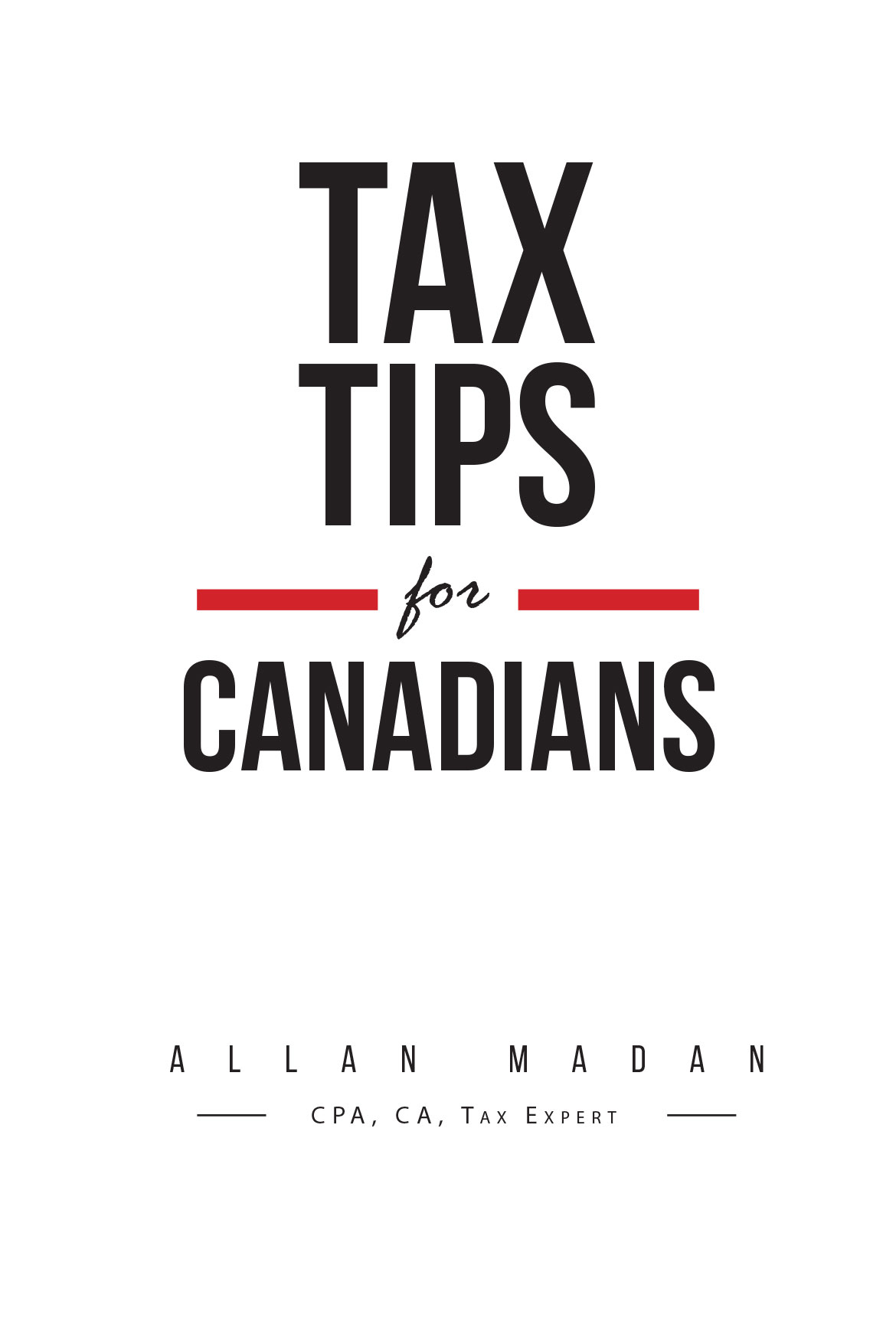 Tax Tips For Canadians