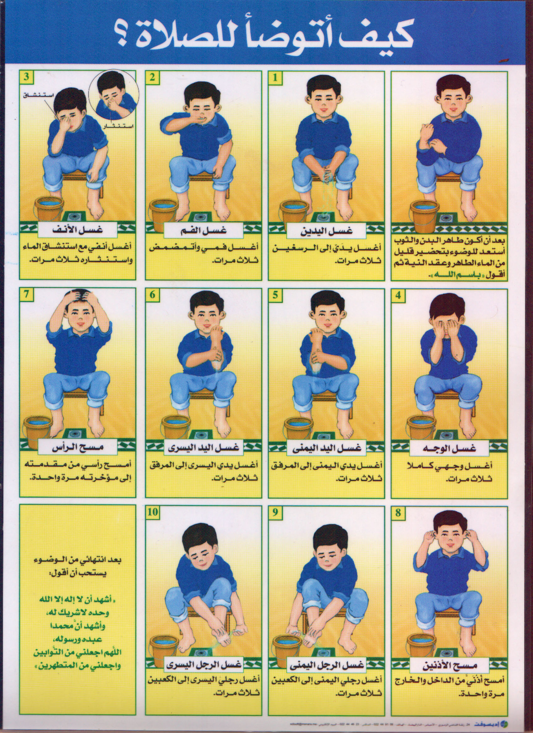 How To Perform Wuduu For Prayer A Step By Step Chart For