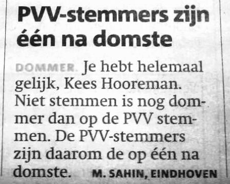 pvv-zijn-dom