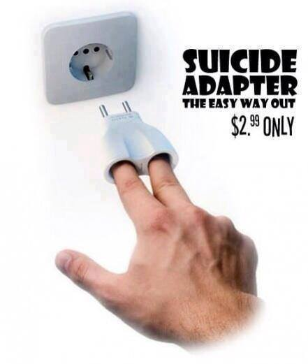 zelfmoord stekker