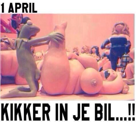 1 april kikker in je bil