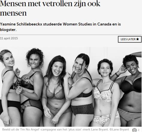 vrouwen met vetrollen