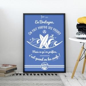 poster MAD BZH surf breizh bretagne