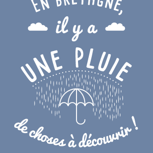 MAD BZH CARTE POSTALE pluie recto