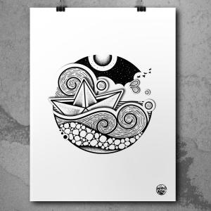 Affiches dessins marins