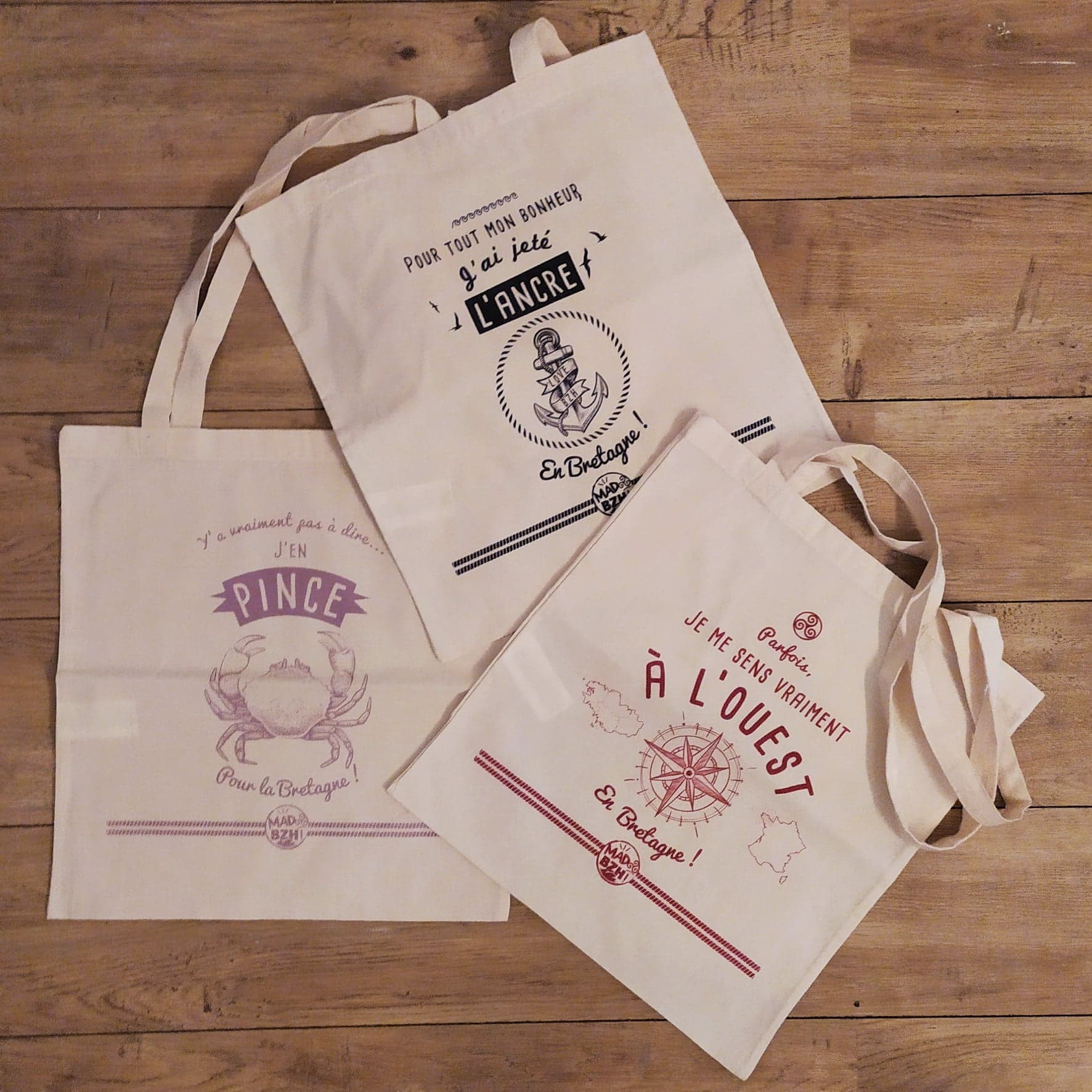 La collection de tote bags MAD BZH