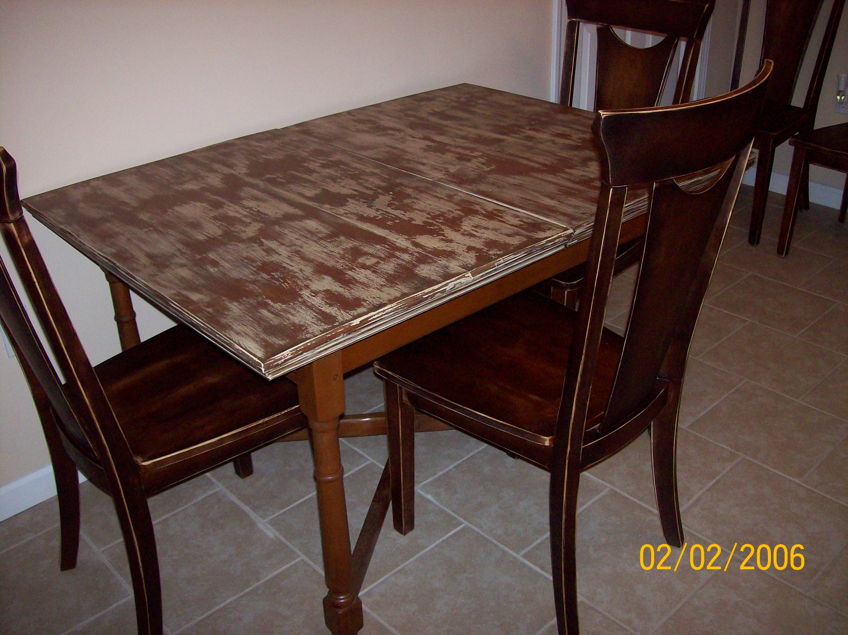 distressed kitchen table pull out faucet diy madcap crazy creations