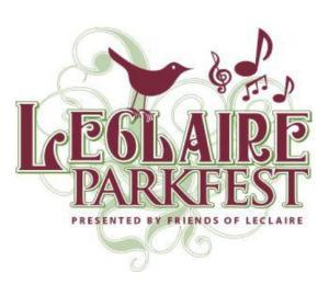 Leclaire Parkfest logo