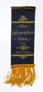 Fraternal ribbon celebrating Labor Day, Alton Typographical Union No. 306