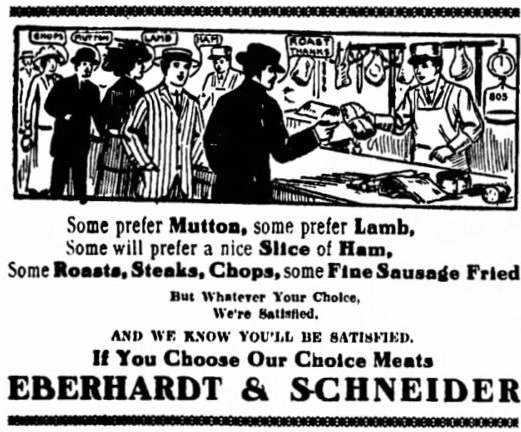 Eberhardt and Schneider advertisement
