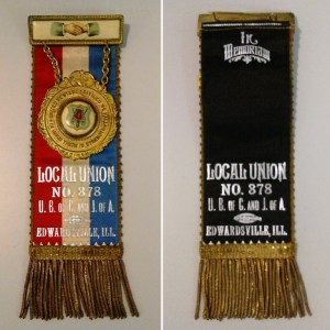 Fraternal ribbon, United Brotherhood of Carpenters and Joiners of America Local Union No. 378, Edwardsville