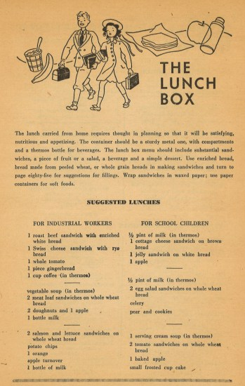 Packed lunch menus