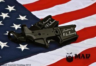 Spike's Tactical Receivers signed by R. Lee Emery and clear coated in Cerakote