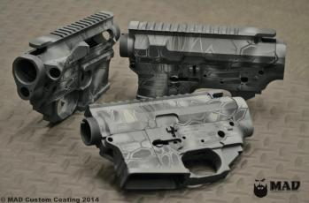 Ft. Discovery AR15 receivers in Cerakote MAD Dragon Typhon