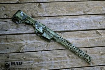Rainier Arms 308 AR in Cerakote MAD Dragon