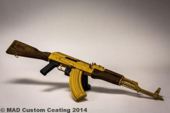 AK47 in Gold Cerakote