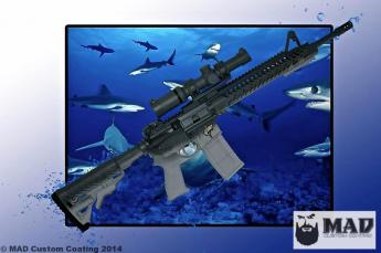 Shark Themed AR15 w/ Custom 3D Engraving