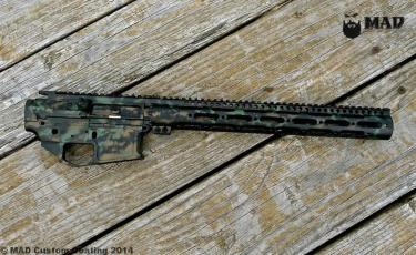 Joe Bob Outfitters AR set in MAD Grunge Camo using MAD Black, Burnt Bronze & Highland Green