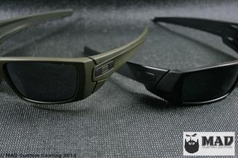 Oakley Gascans in OD Green & Black Cerakote