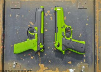 Pair of Zombie Green & Black Berettas in Cerakote