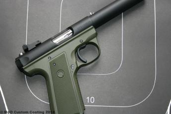 Ruger .22 in Cerakote OD Green & Graphite Black