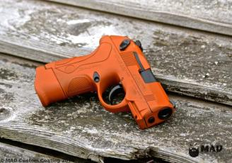 Beretta PX4 Storm in Cerakote Burnt Orange & MAD Black