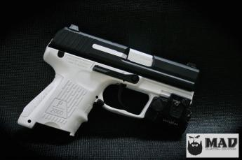 H&K in Cerakote Bright White & Graphite Black