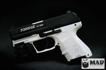 H&K P2000 In Cerakote Bright White & Graphite Black