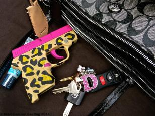 Smith & Wesson Bodyguard w/ Sig Pink Slide and Leopard print frame